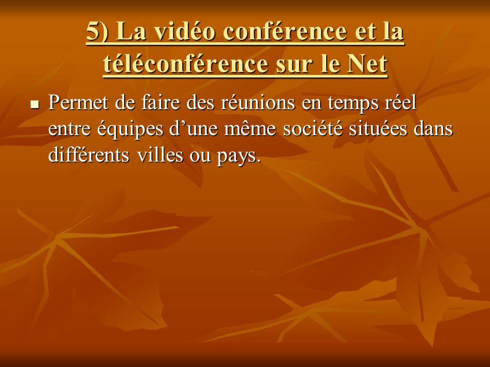 5) La vidéo conférence et la téléconférence sur le Net