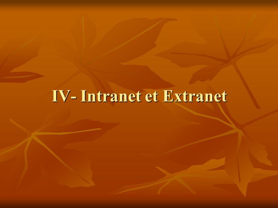 IV- Intranet et Extranet