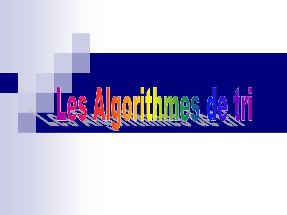 Les Algorithmes de tri