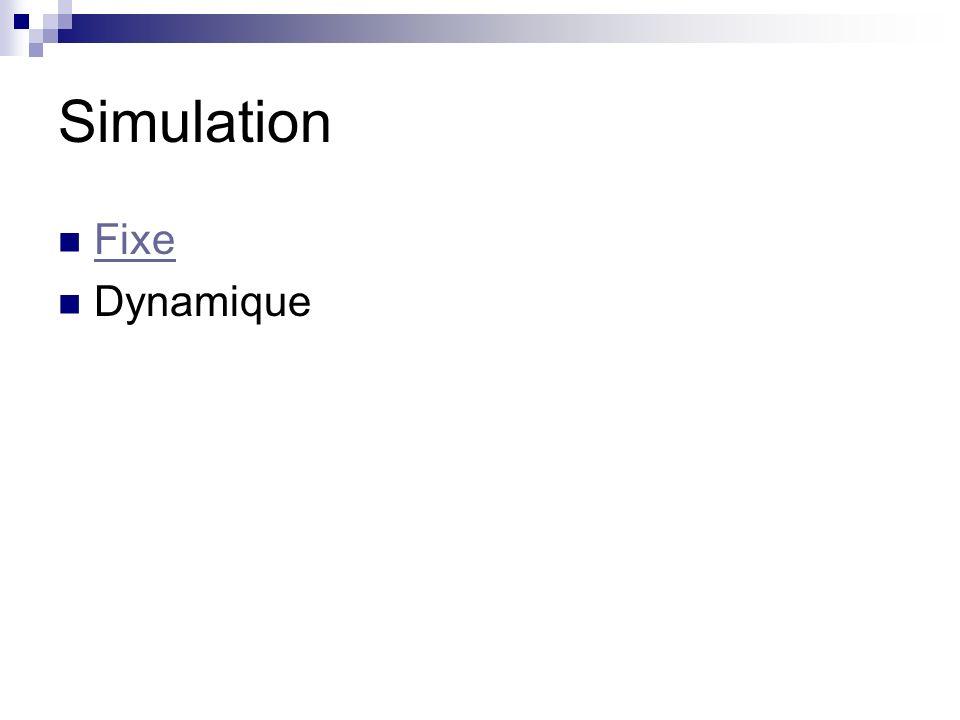 Simulation Fixe Dynamique