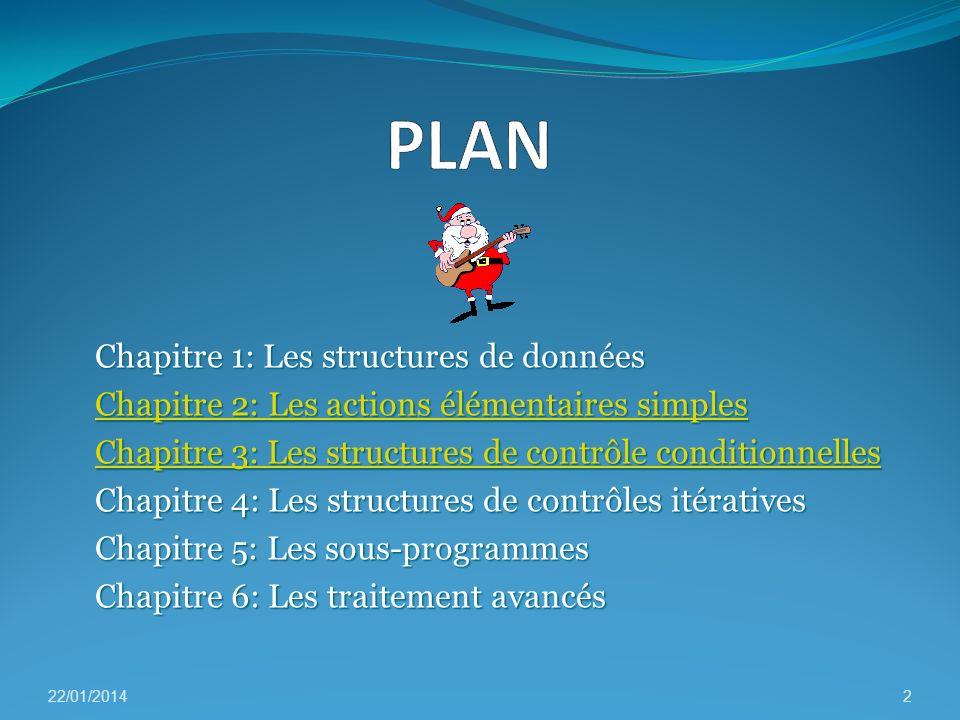 PLAN Chapitre 1: Les structures de données