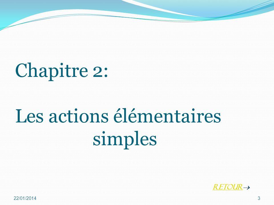 Chapitre 2: Les actions élémentaires simples