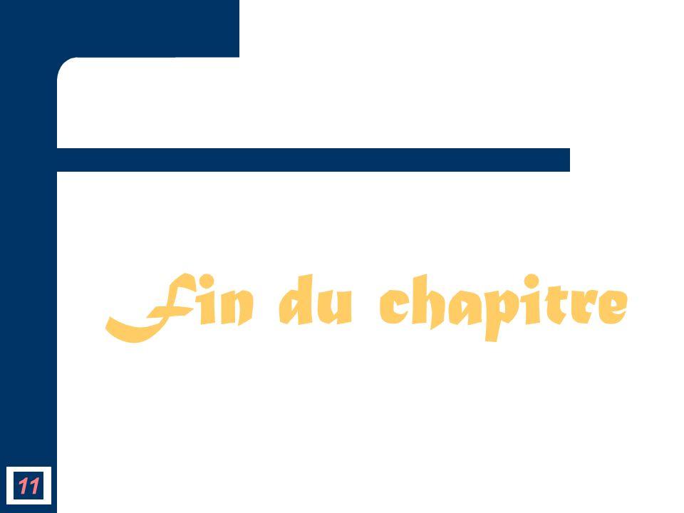 Fin du chapitre 11