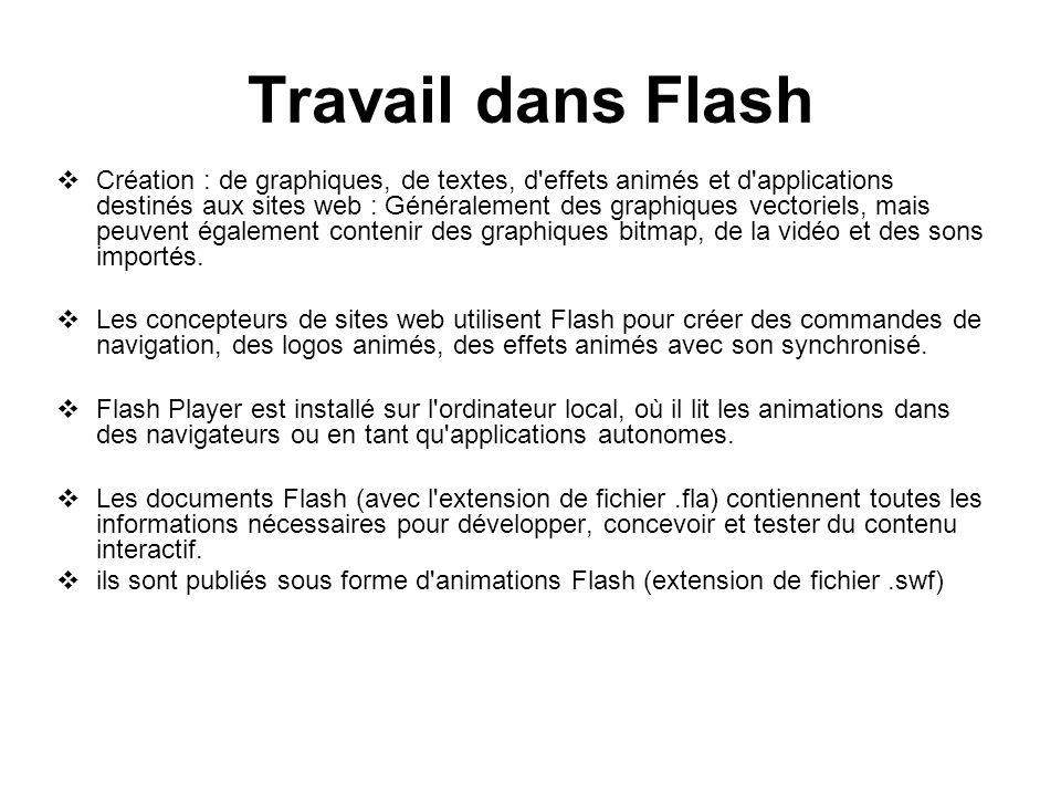 Travail dans Flash