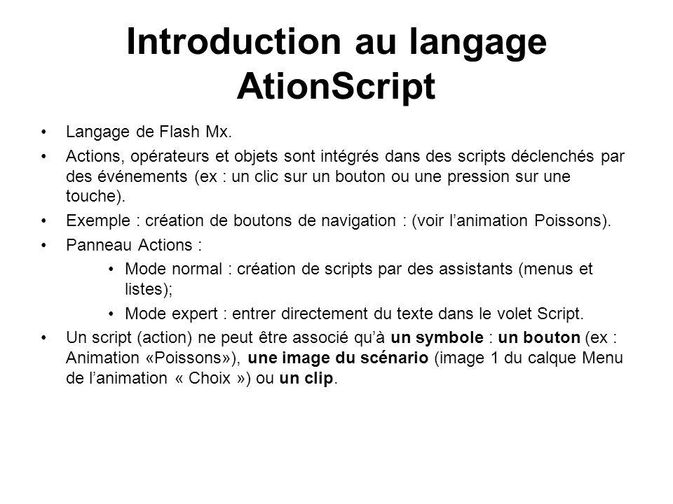 Introduction au langage AtionScript