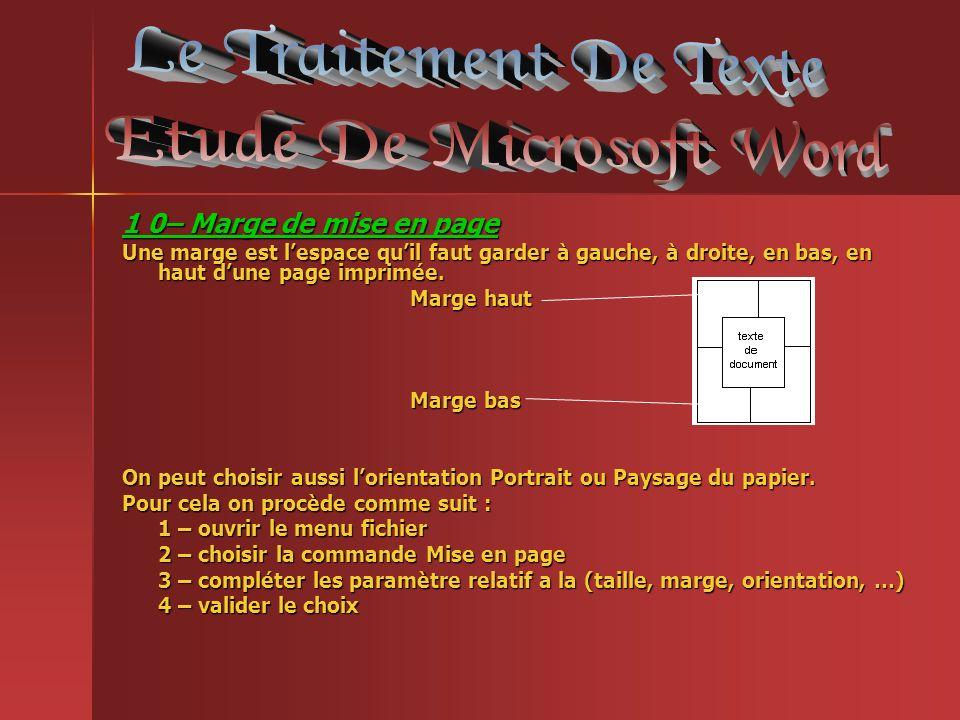 Etude De Microsoft Word