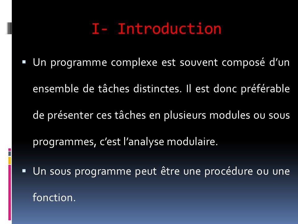 I- Introduction