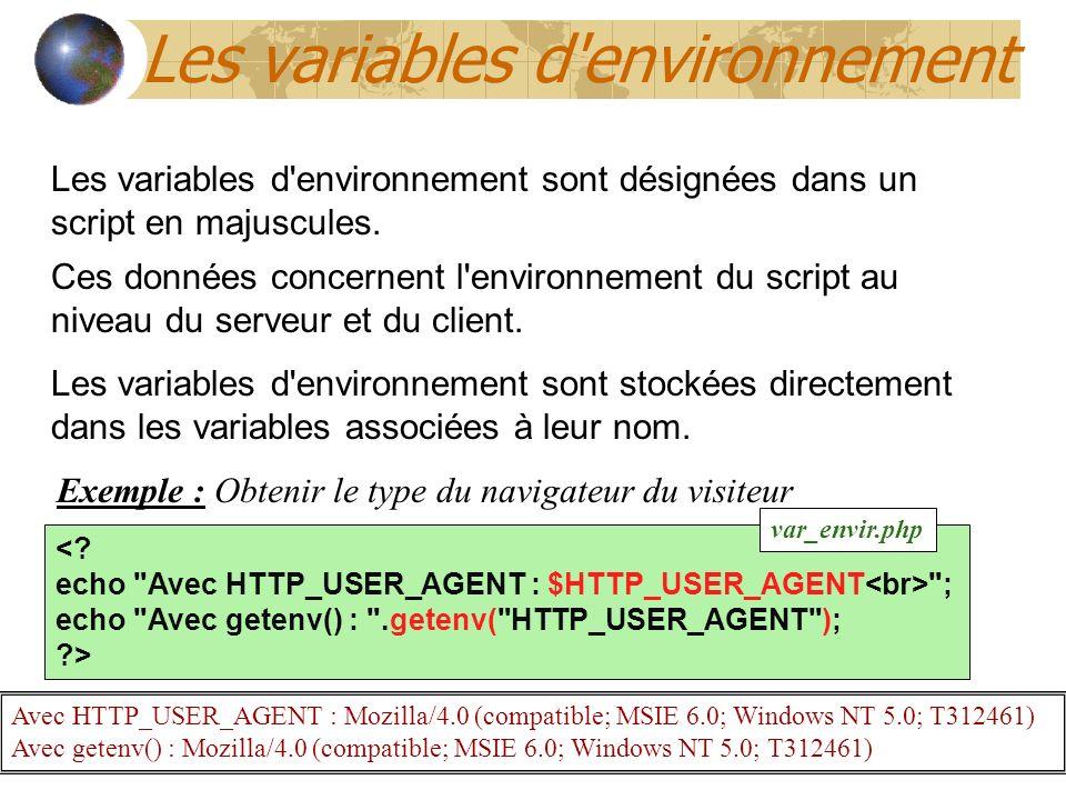 Les variables d environnement