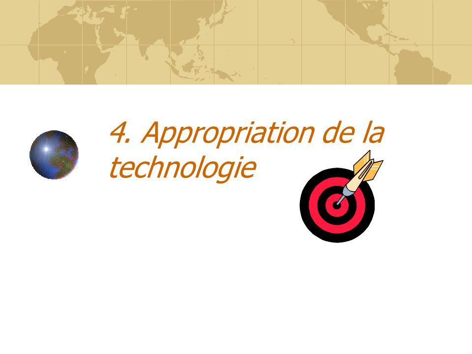 4. Appropriation de la technologie