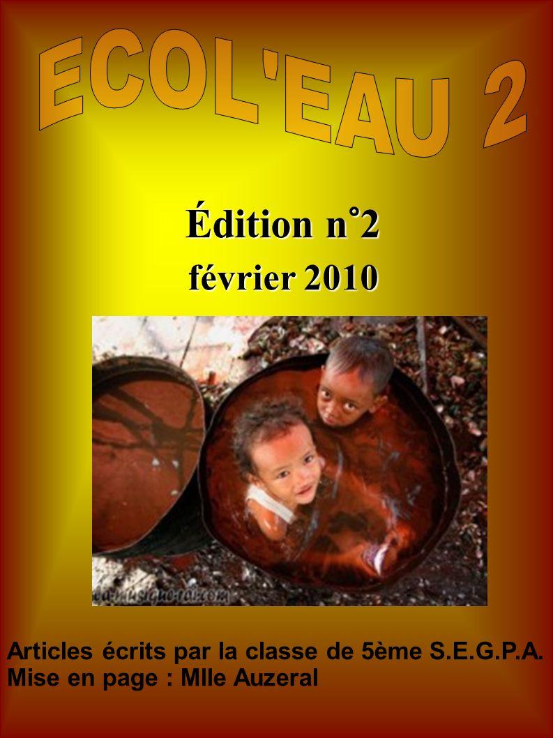 Édition n°2 février 2010 ECOL EAU 2