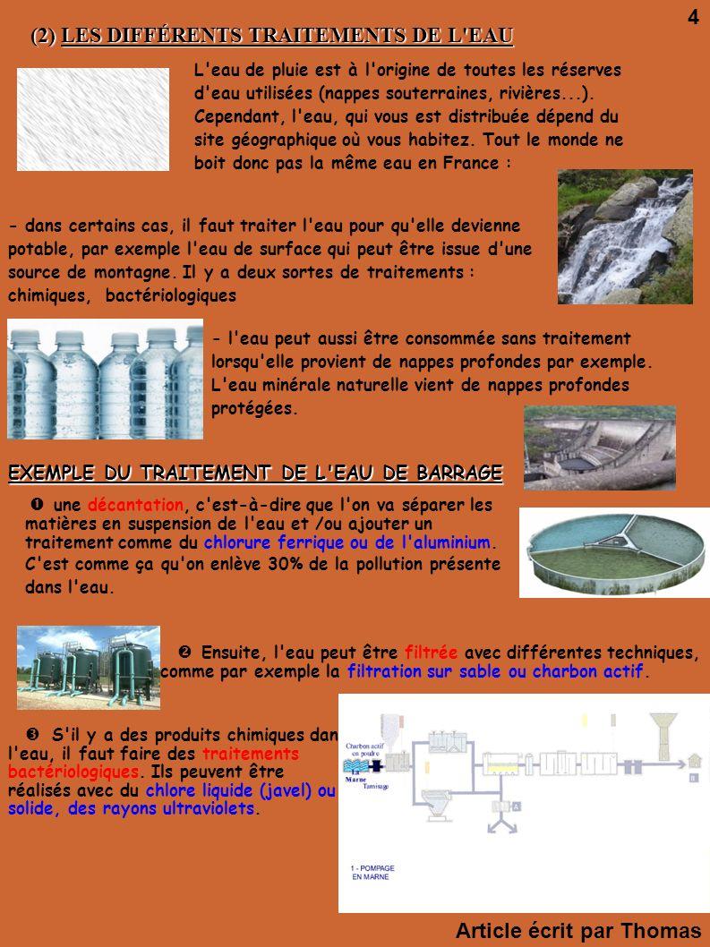 Dition n 2 f vrier 2010 ecol 39 eau 2 ppt t l charger - D ou provient l eau du robinet ...