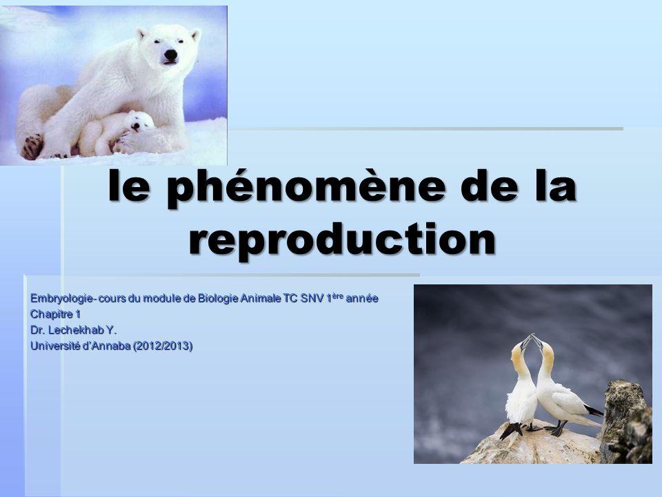 le phénomène de la reproduction