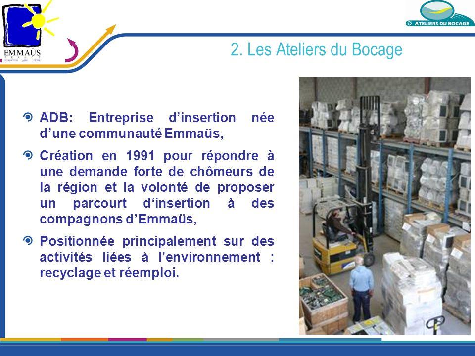 2. Les Ateliers du Bocage ADB: Entreprise d'insertion née d'une communauté Emmaüs,