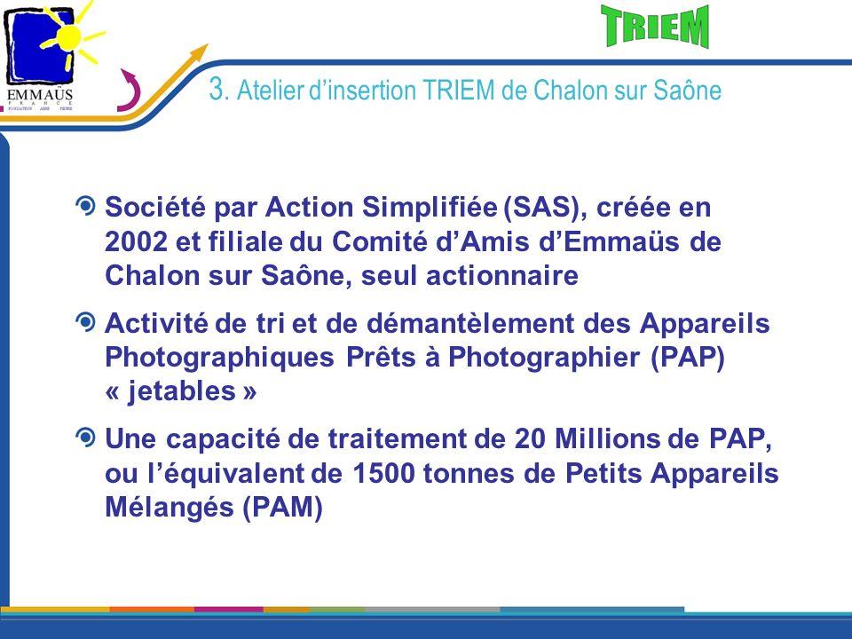 3. Atelier d'insertion TRIEM de Chalon sur Saône