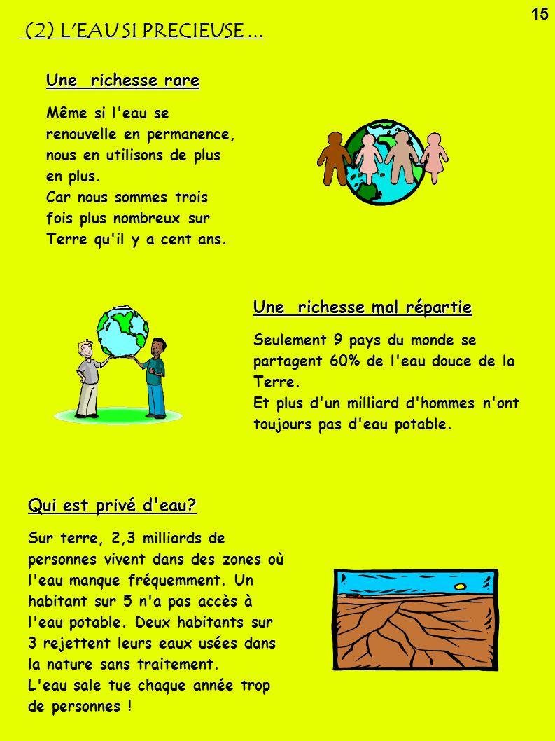 (2) L EAU SI PRECIEUSE ... 15 Une richesse rare