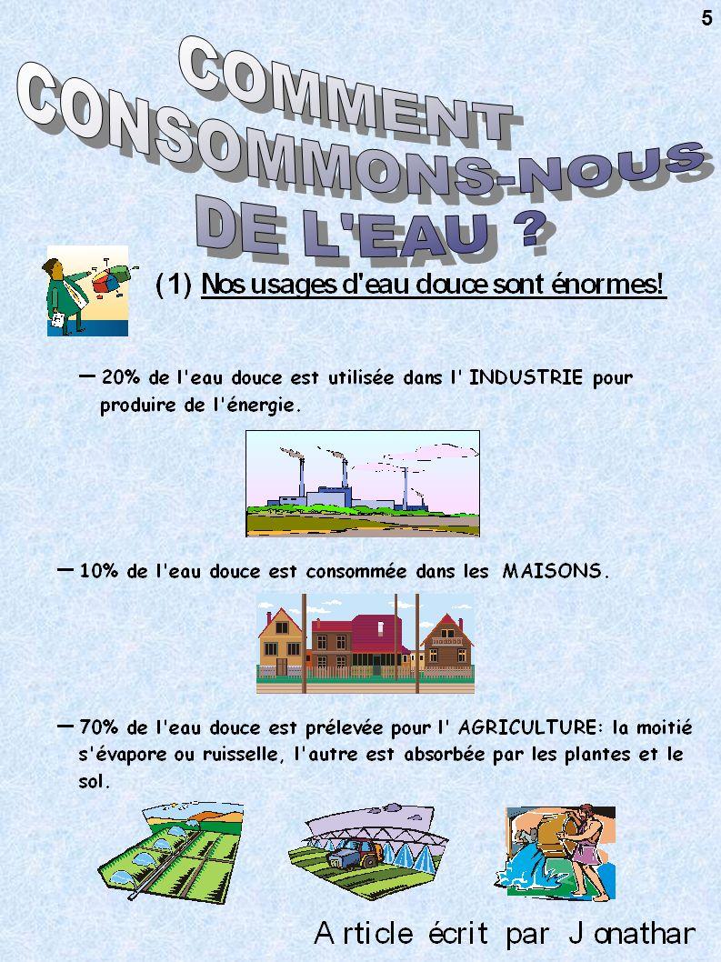 COMMENT CONSOMMONS-NOUS DE L EAU 5