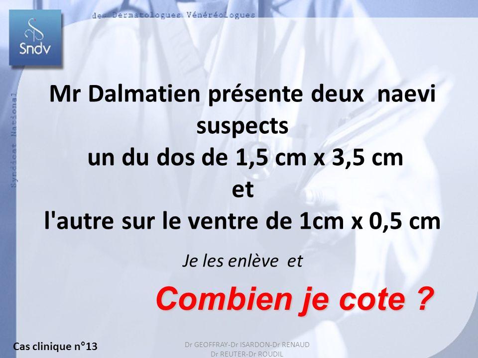 Combien je cote Mr Dalmatien présente deux naevi suspects
