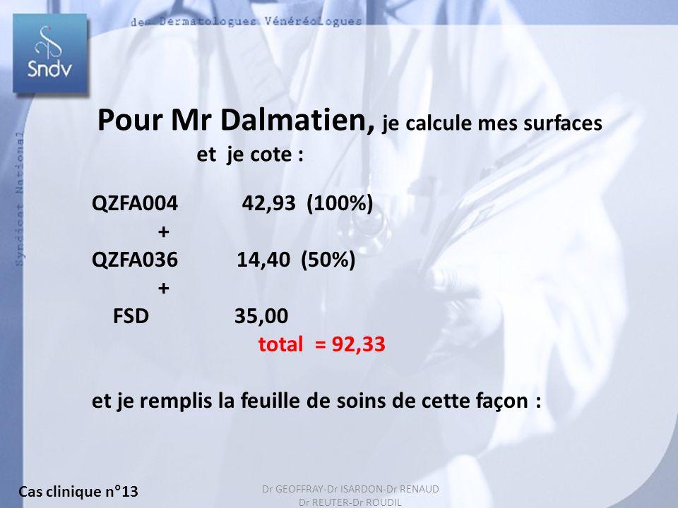 Pour Mr Dalmatien, je calcule mes surfaces