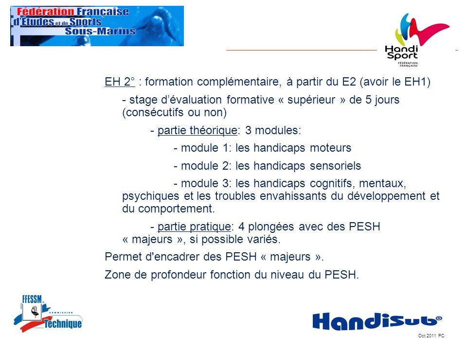 EH 2° : formation complémentaire, à partir du E2 (avoir le EH1)