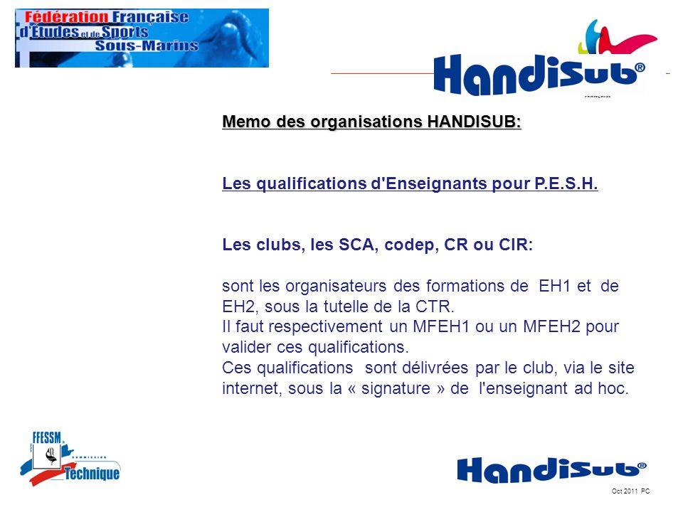 Memo des organisations HANDISUB:IT MEMO