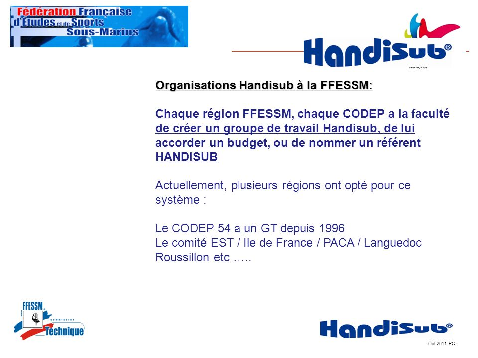 Organisations Handisub à la FFESSM: