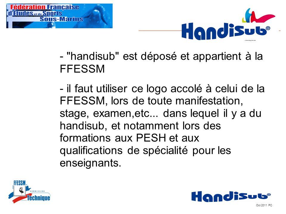 - handisub est déposé et appartient à la FFESSM