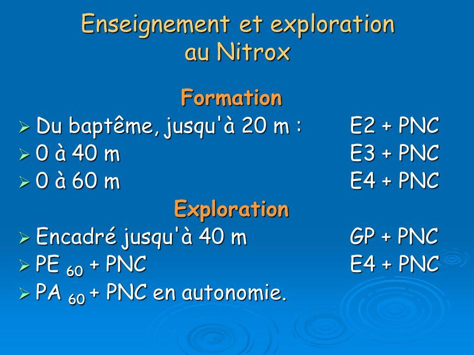 Enseignement et exploration au Nitrox