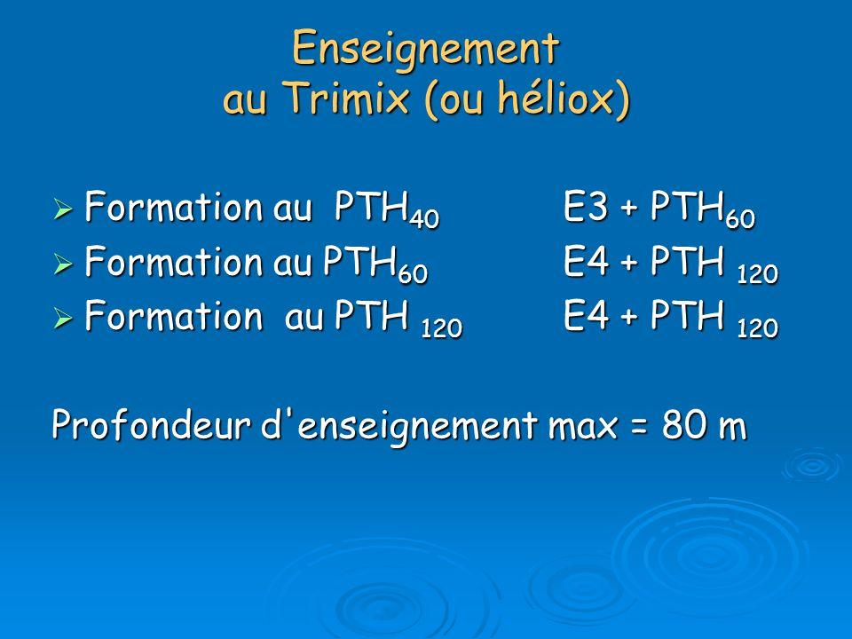 Enseignement au Trimix (ou héliox)