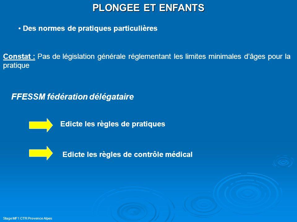 PLONGEE ET ENFANTS FFESSM fédération délégataire