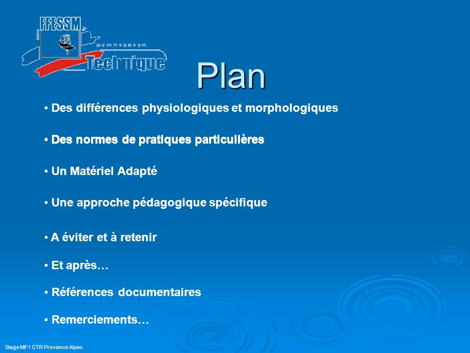 Plan Des différences physiologiques et morphologiques