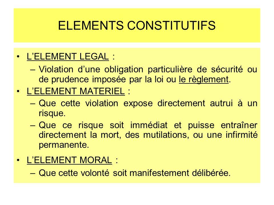 ELEMENTS CONSTITUTIFS