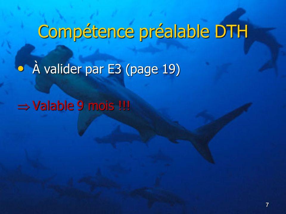 Compétence préalable DTH