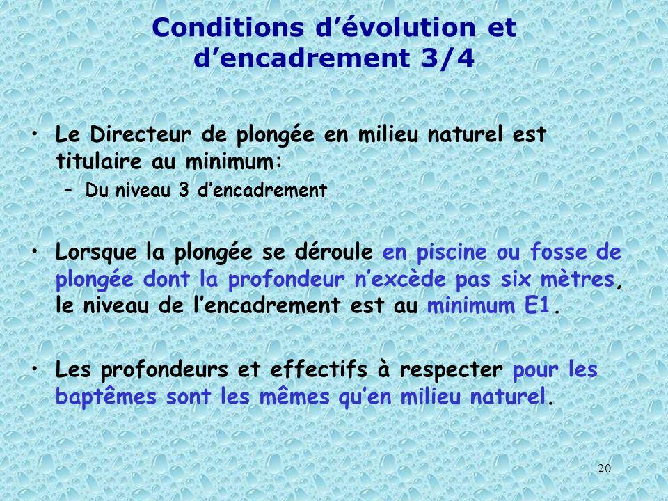 Conditions d'évolution et d'encadrement 3/4