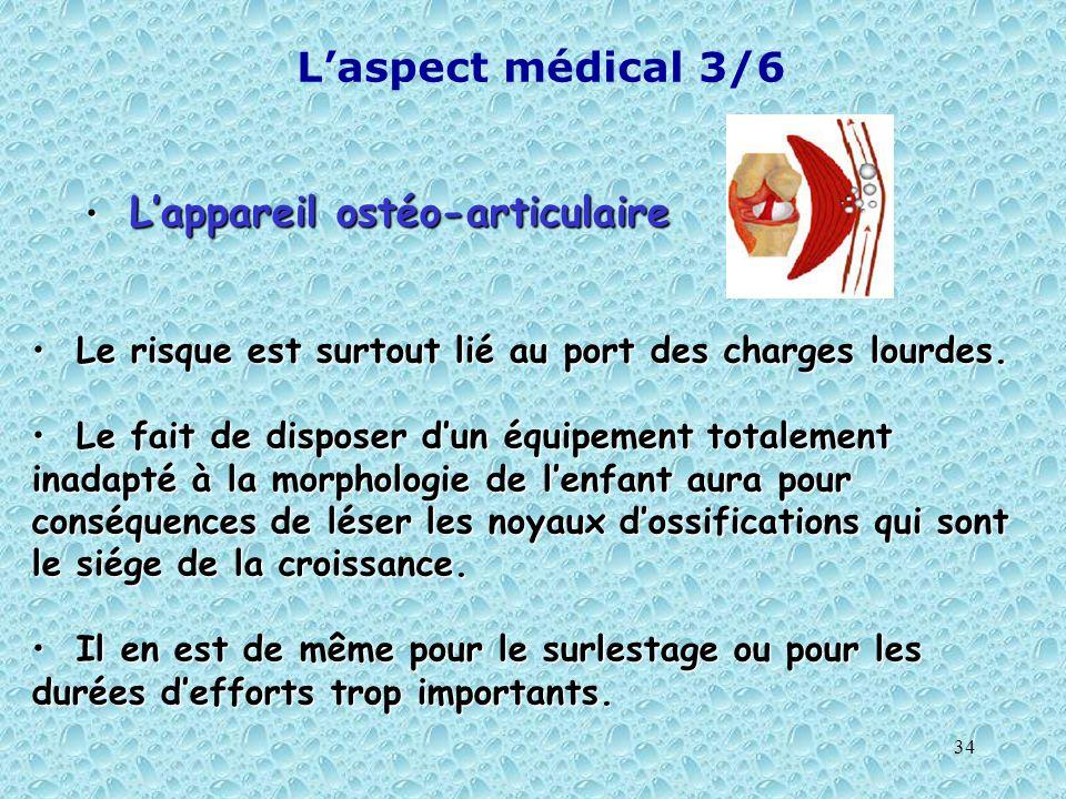 L'aspect médical 3/6 L'appareil ostéo-articulaire