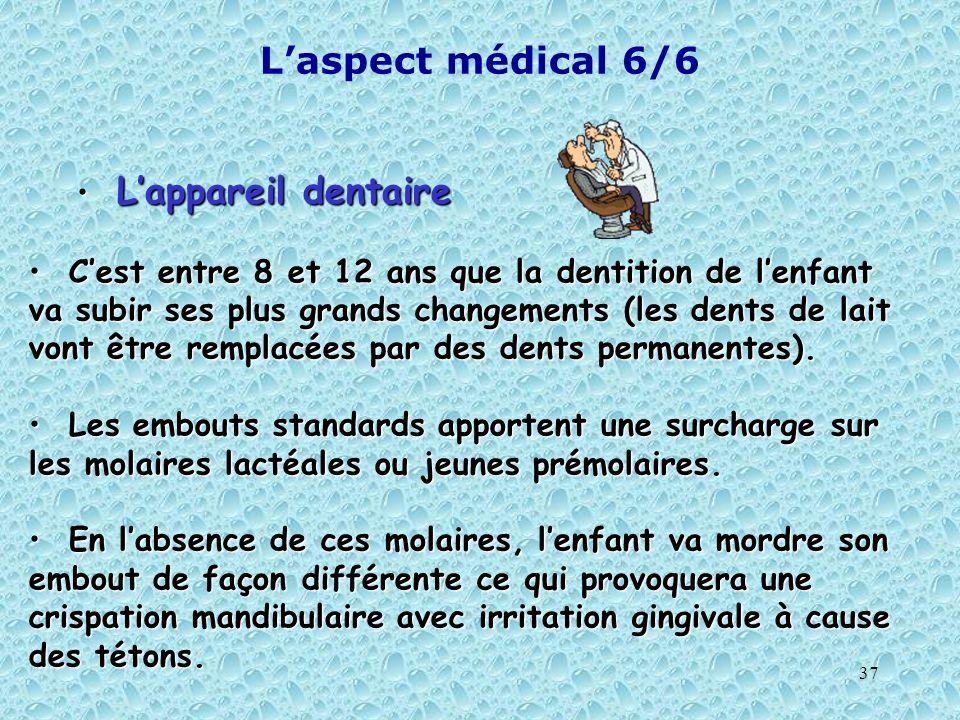 L'aspect médical 6/6 L'appareil dentaire