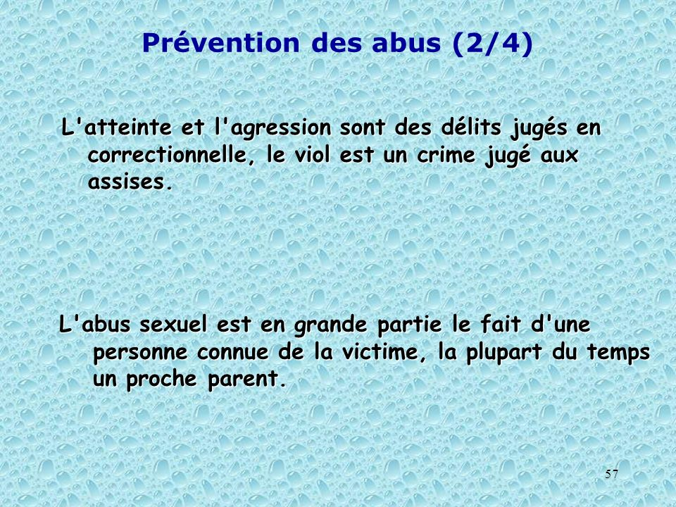 Prévention des abus (2/4)