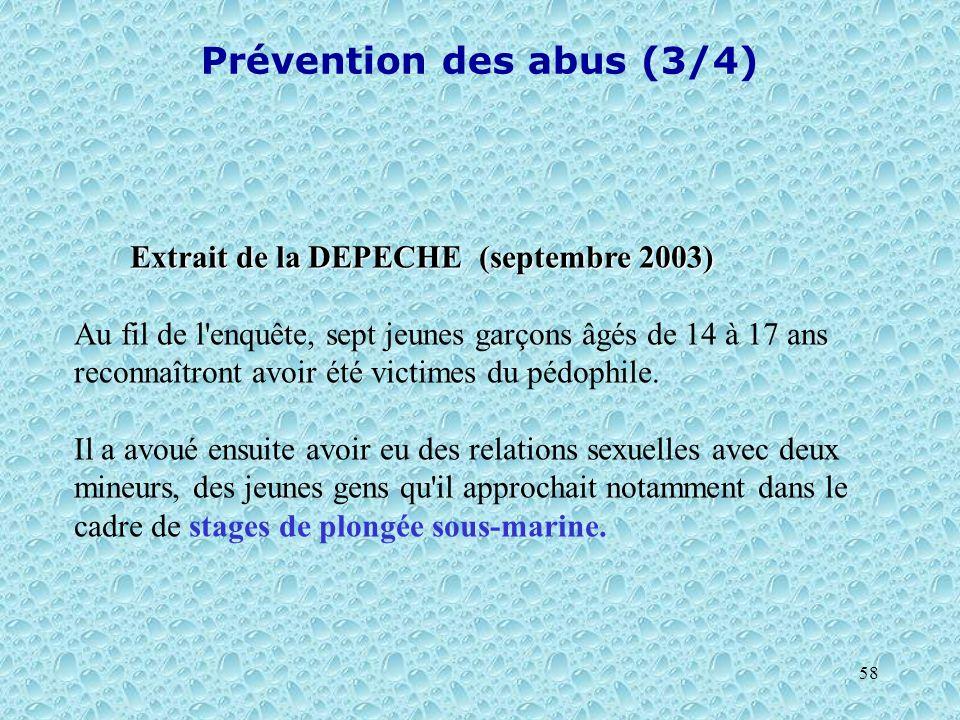 Prévention des abus (3/4)