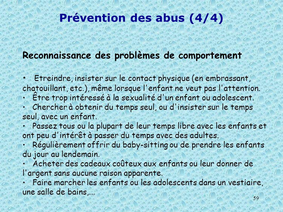 Prévention des abus (4/4)