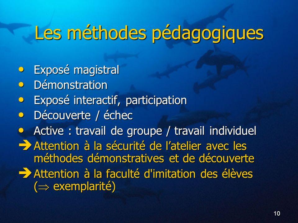 Les méthodes pédagogiques