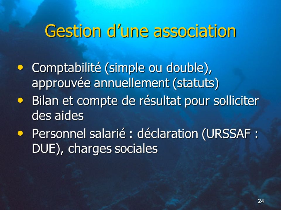 Gestion d'une association