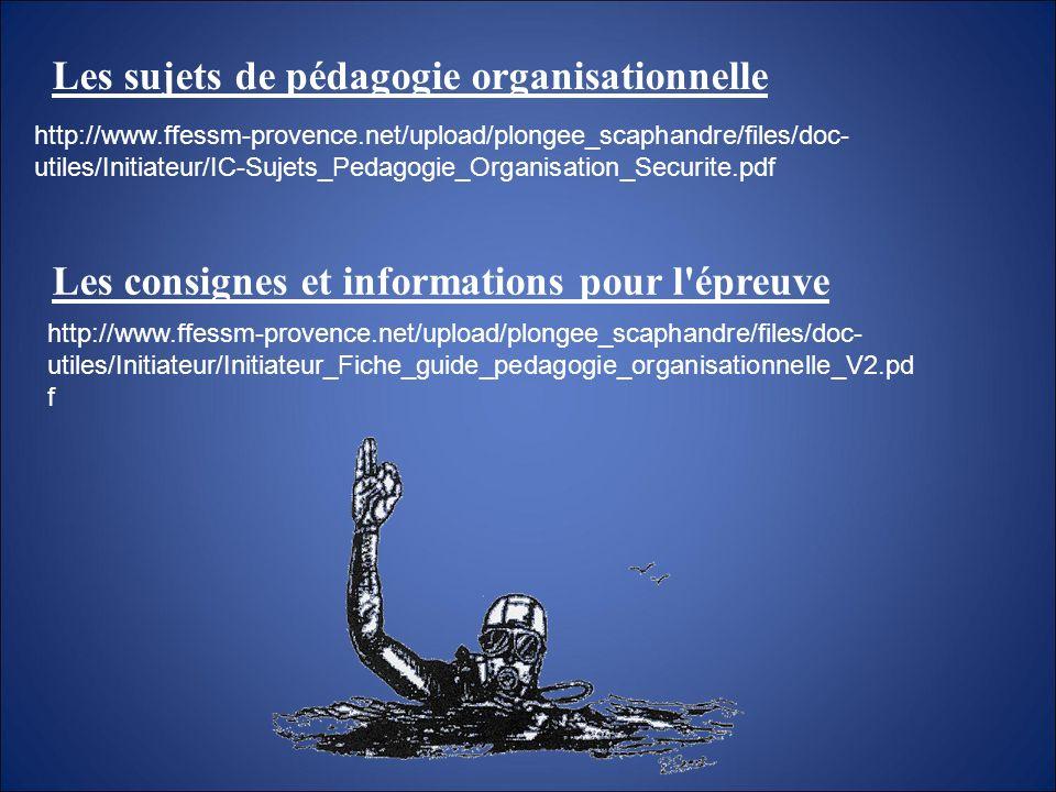 Les sujets de pédagogie organisationnelle