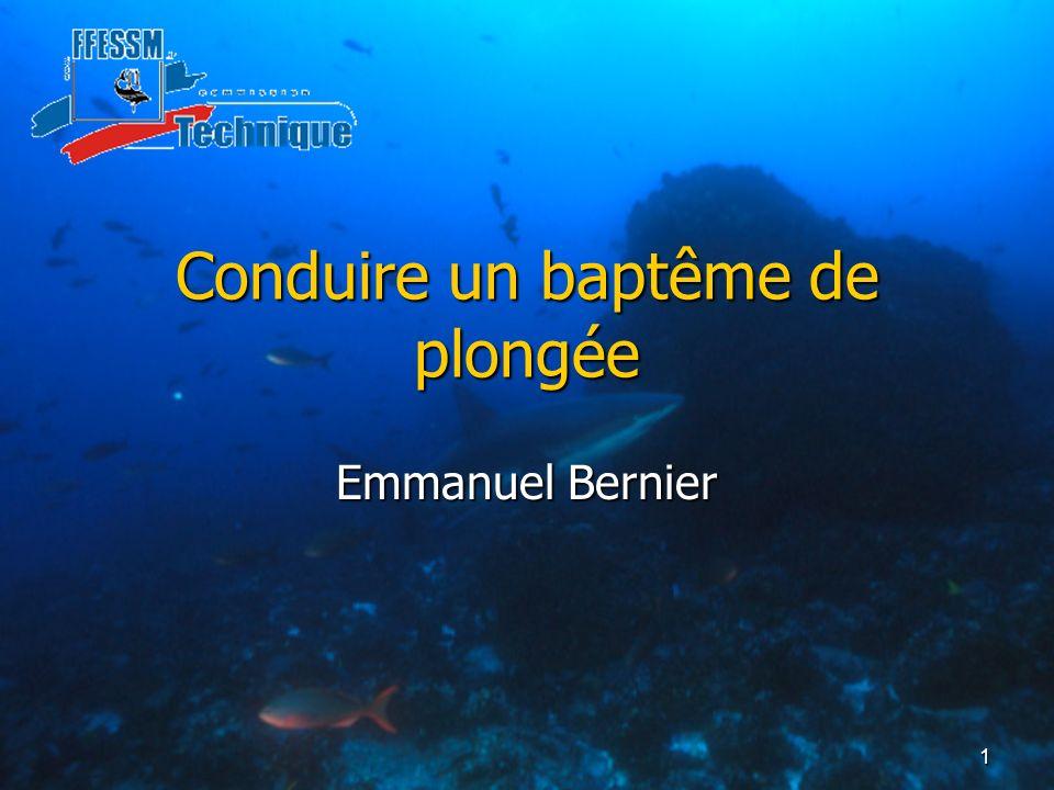 Conduire un baptême de plongée