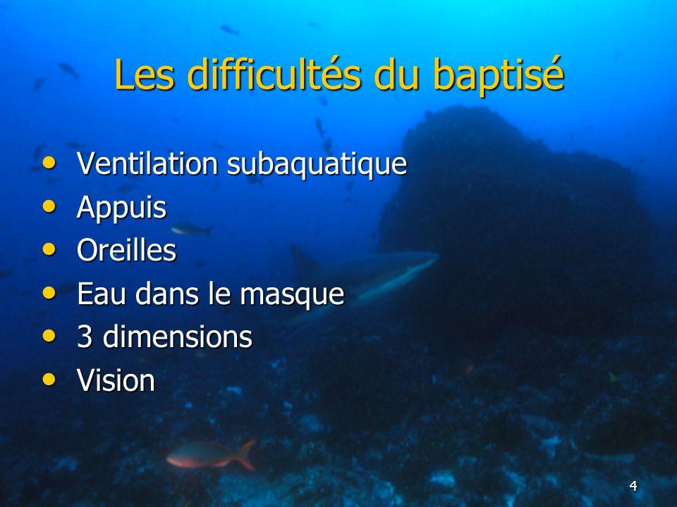 Les difficultés du baptisé