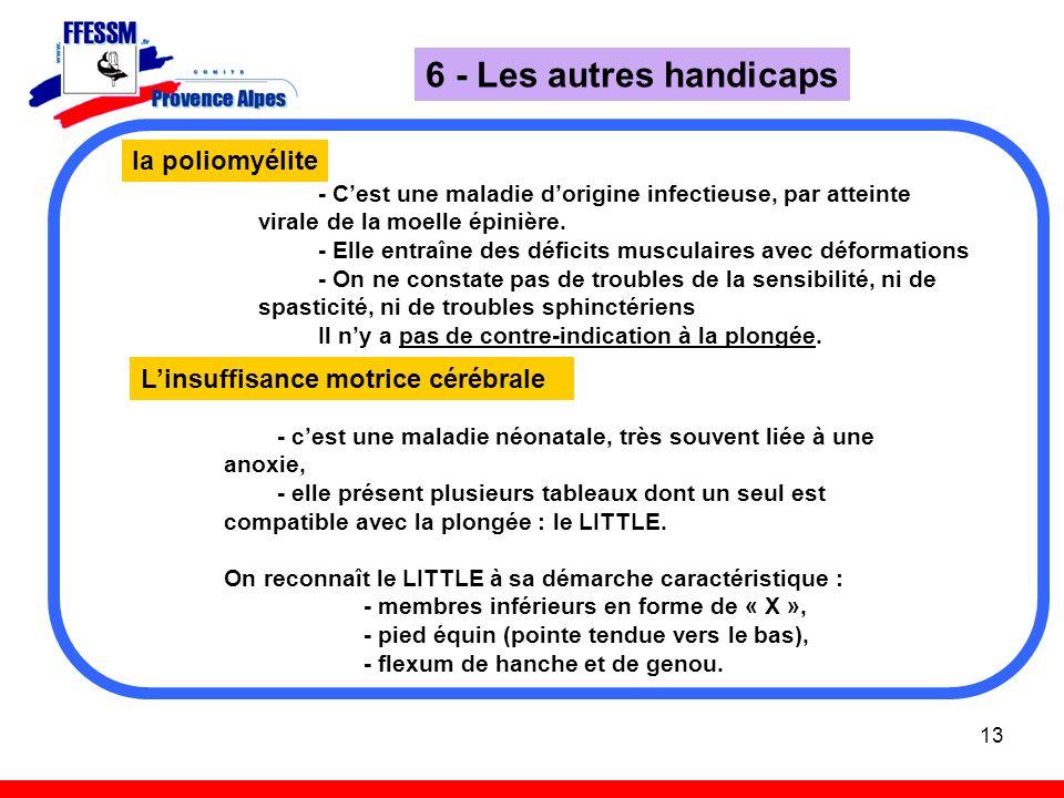 6 - Les autres handicaps la poliomyélite