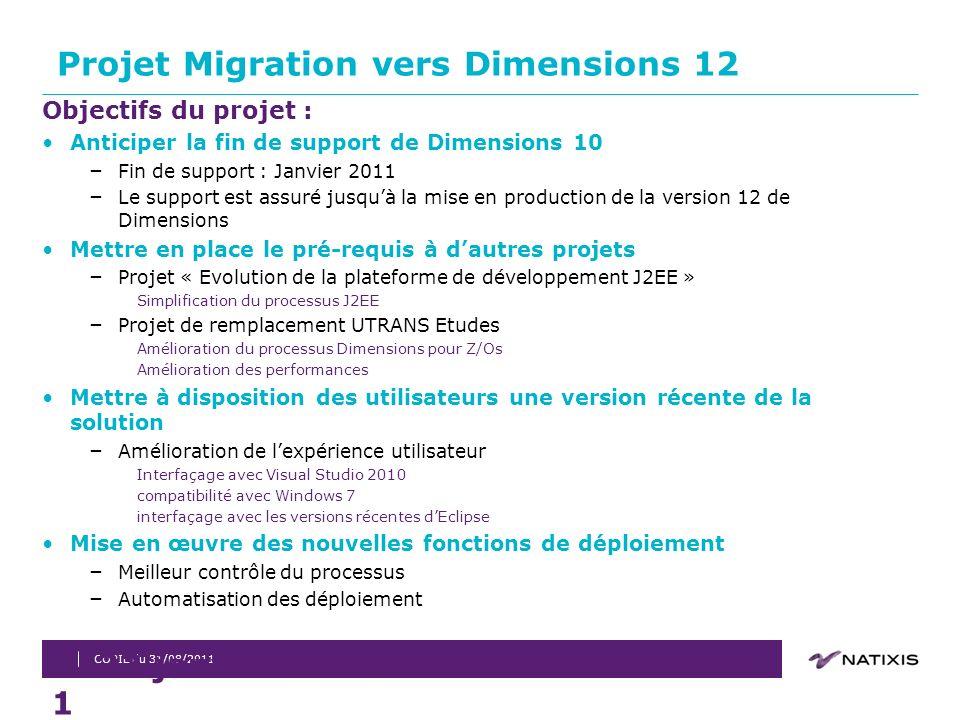 Projet Migration vers Dimensions 12