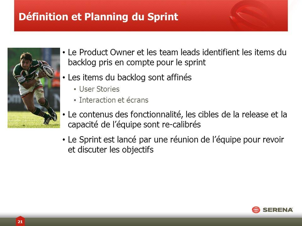 Définition et Planning du Sprint