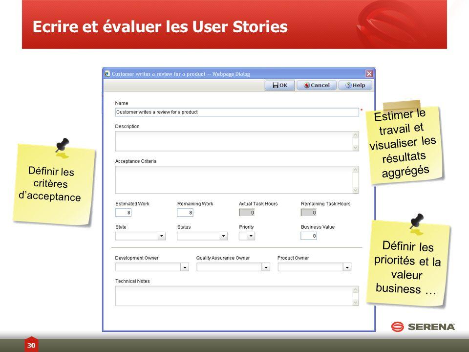 Ecrire et évaluer les User Stories