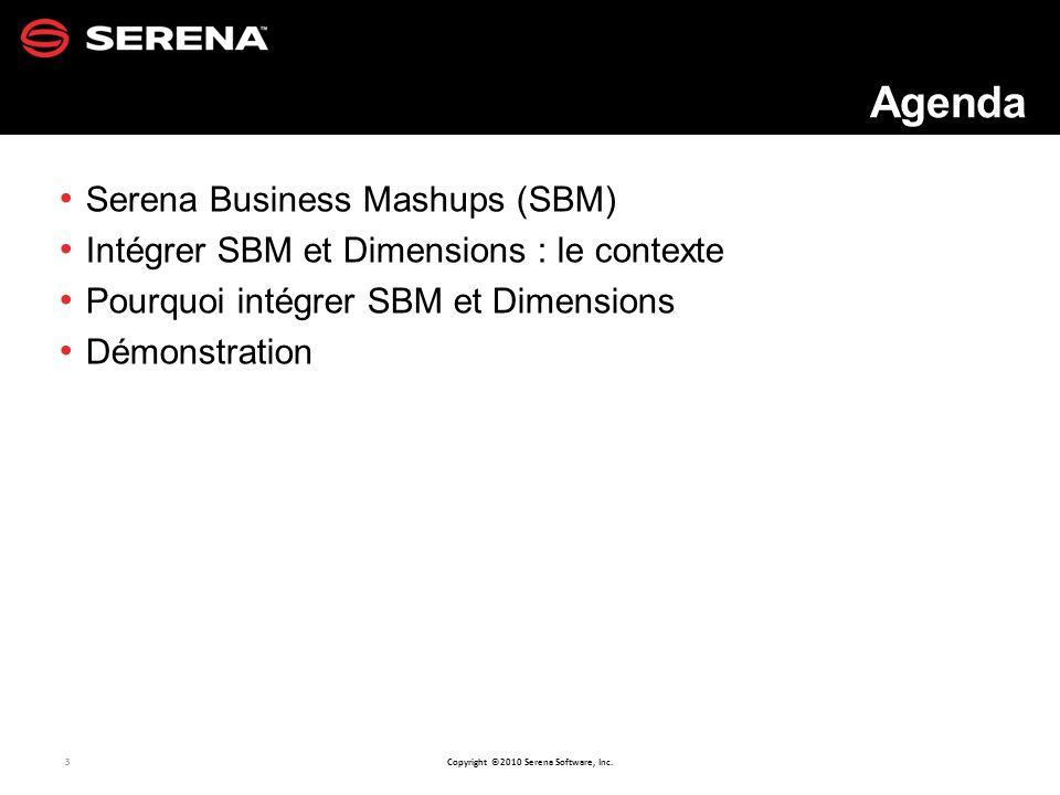 Agenda Serena Business Mashups (SBM)