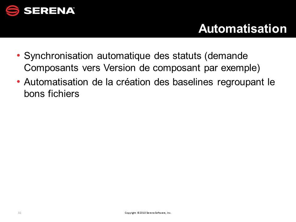 Automatisation Synchronisation automatique des statuts (demande Composants vers Version de composant par exemple)