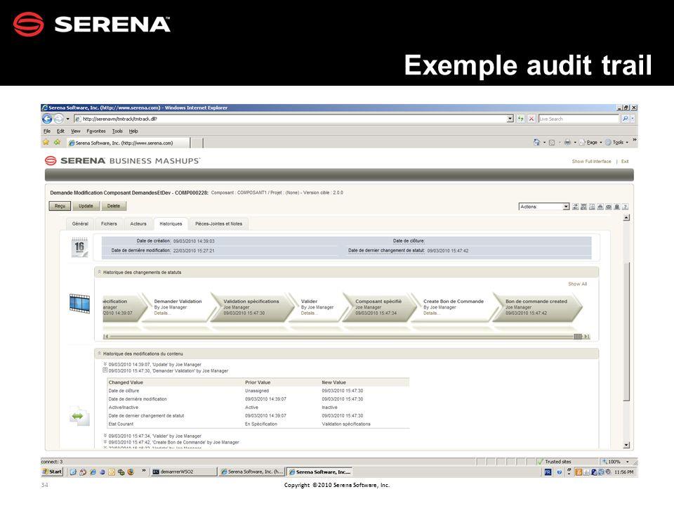 Exemple audit trail